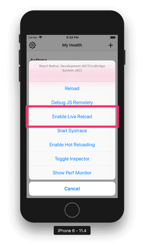 How to live-reload a React Native app written in TypeScript