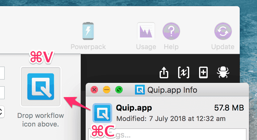 Copy-paste the Quip icon from the Quip app itself